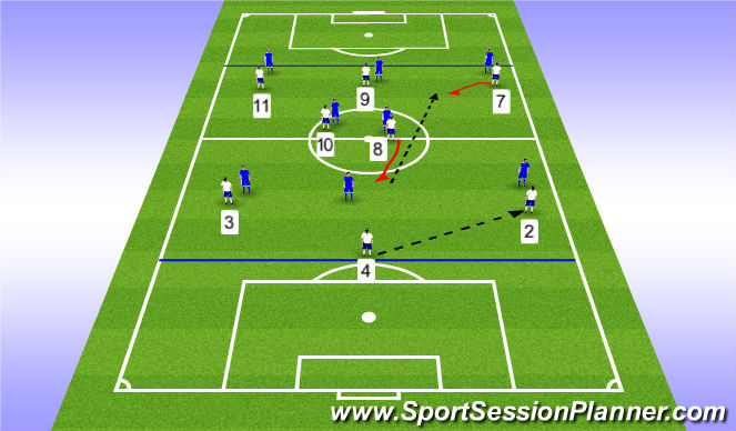 Football/Soccer Session Plan Drill (Colour): 8v8 Possession