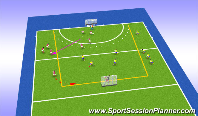 Hockey Session Plan Drill (Colour): match exos