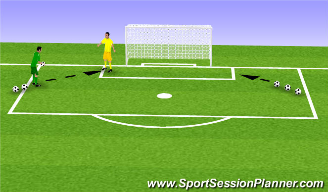 Football/Soccer Session Plan Drill (Colour): Angled Strikes