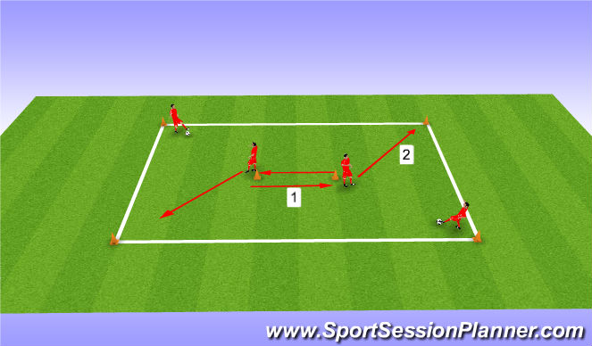 Football/Soccer Session Plan Drill (Colour): Passing and Receiving Switch
