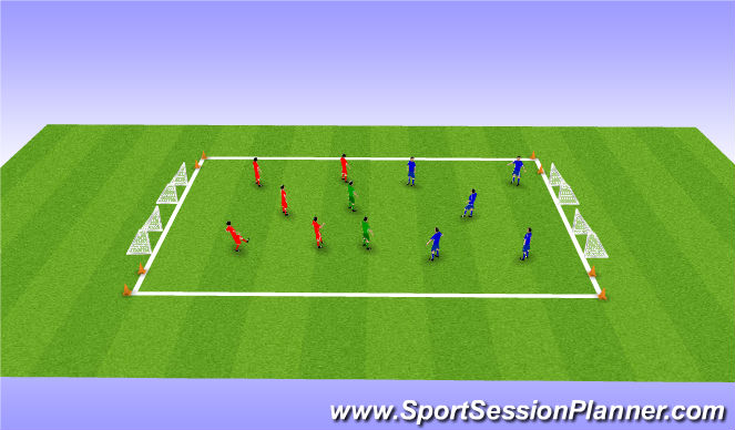 Football/Soccer Session Plan Drill (Colour): Game with Jolly