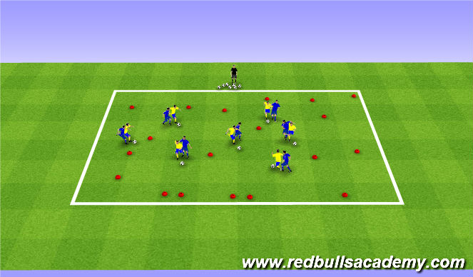 Football/Soccer Session Plan Drill (Colour): Gates game