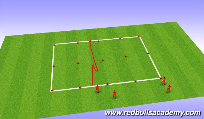 Football/Soccer Session Plan Drill (Colour): Messi Xavi SAQ Stop Start Coordination
