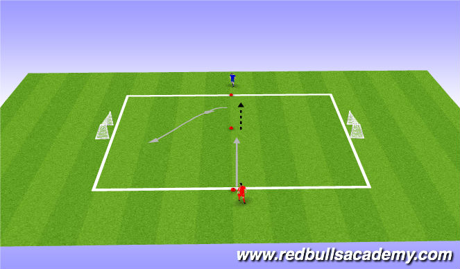 Football/Soccer Session Plan Drill (Colour): 1v1 Tournament