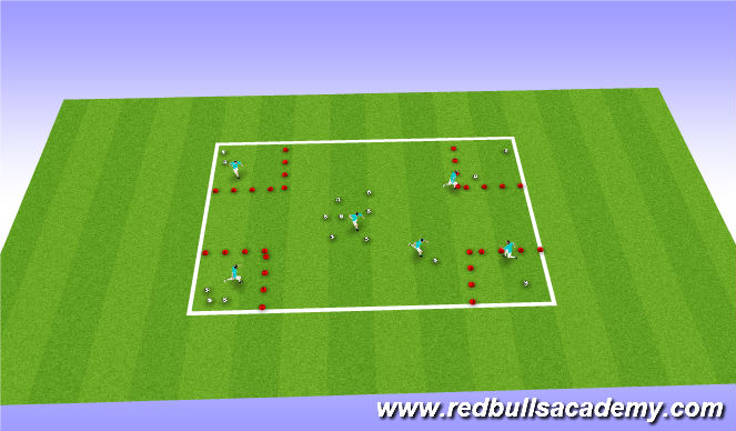Football/Soccer Session Plan Drill (Colour): villan's layer