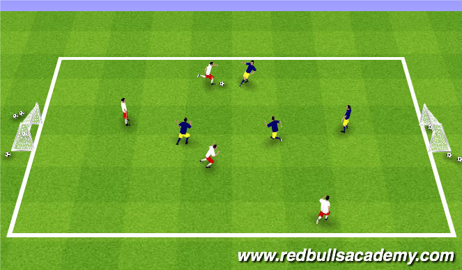 Football/Soccer Session Plan Drill (Colour): Tournament 4v4