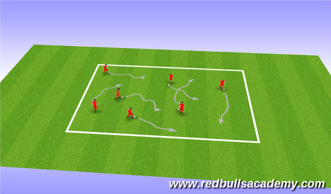 Football/Soccer Session Plan Drill (Colour): Warmup Stage 1