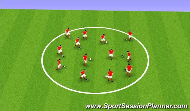 Football/Soccer Session Plan Drill (Colour): Warm Up 1