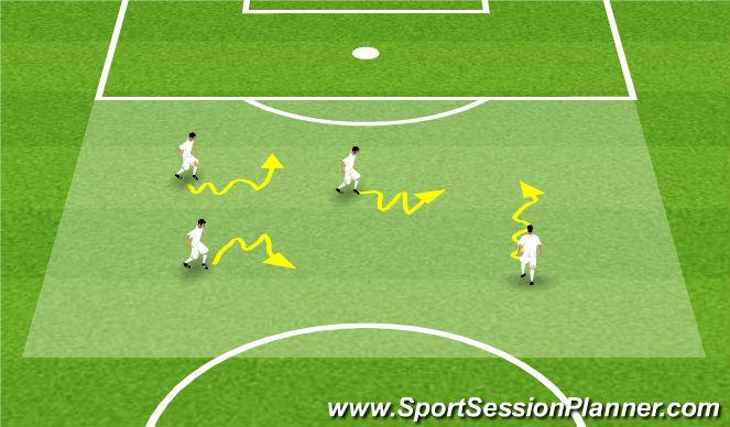 Football/Soccer Session Plan Drill (Colour): Prowadzenie piłki z elementami siły nóg