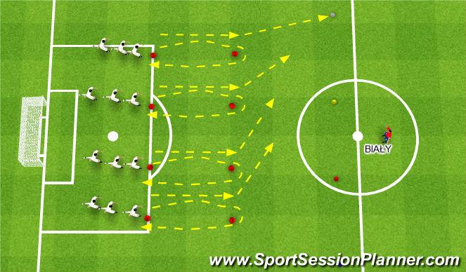 Football/Soccer Session Plan Drill (Colour): Rozgrzewka ogólnorozwojowa, taktyczna