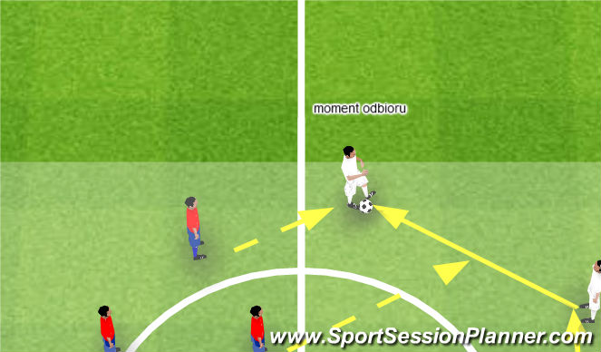 Football/Soccer Session Plan Drill (Colour): Moment odbioru piłki